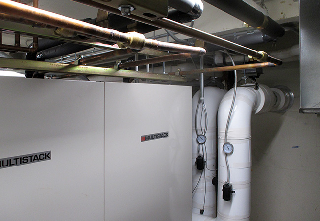 Chiller component at College of Wooster HVAC system
