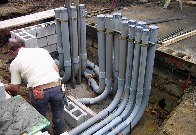 installation of conduits at ely road reel