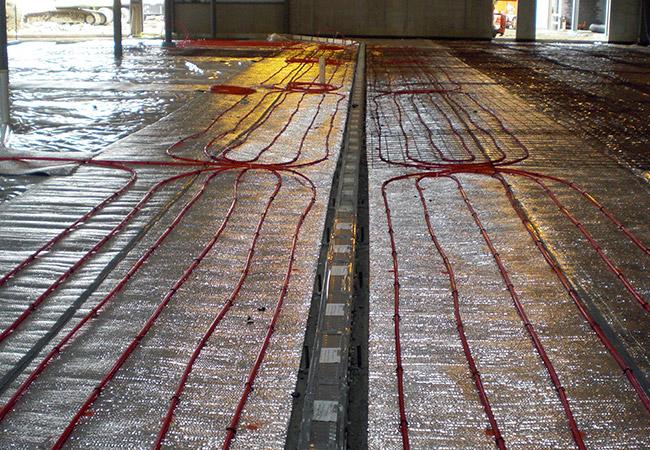 construction of industrial heated floor