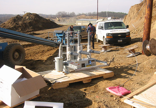 transformer installation at holmes supply