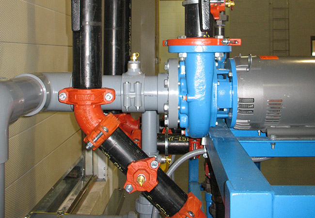 process piping for chilled water system (sfs intec)