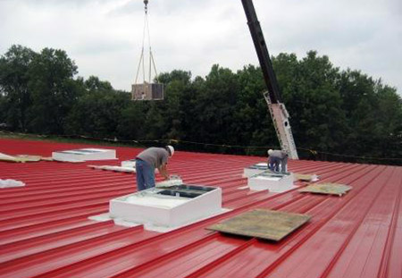 installation of rooftop hvac unit at p graham dunn facility
