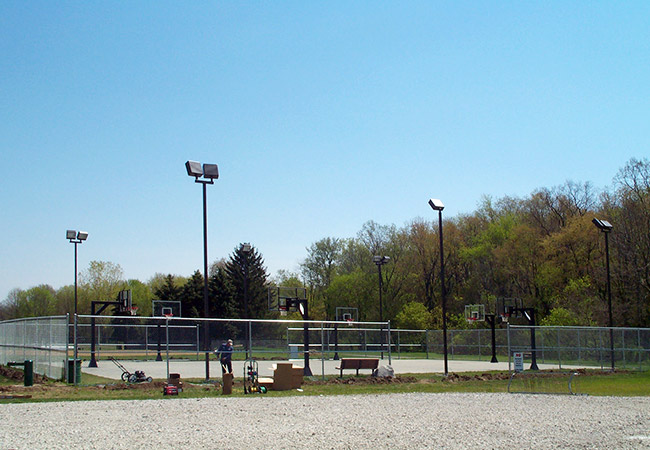 exterior lights installed at Smithville Park, Smithville OH